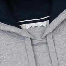 Мужская толстовка Lacoste Sport Hooded Fleece Tennis Silver/Navy Blue фото- 1