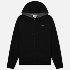 Мужская толстовка Lacoste Sport Tennis Hooded Zippered Black/Grey Chine