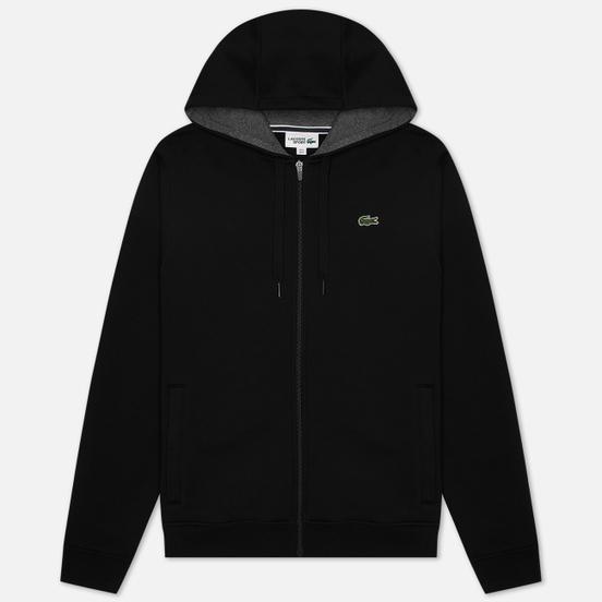 Мужская толстовка Lacoste Sport Tennis Hooded Zippered Black/Grey Chine