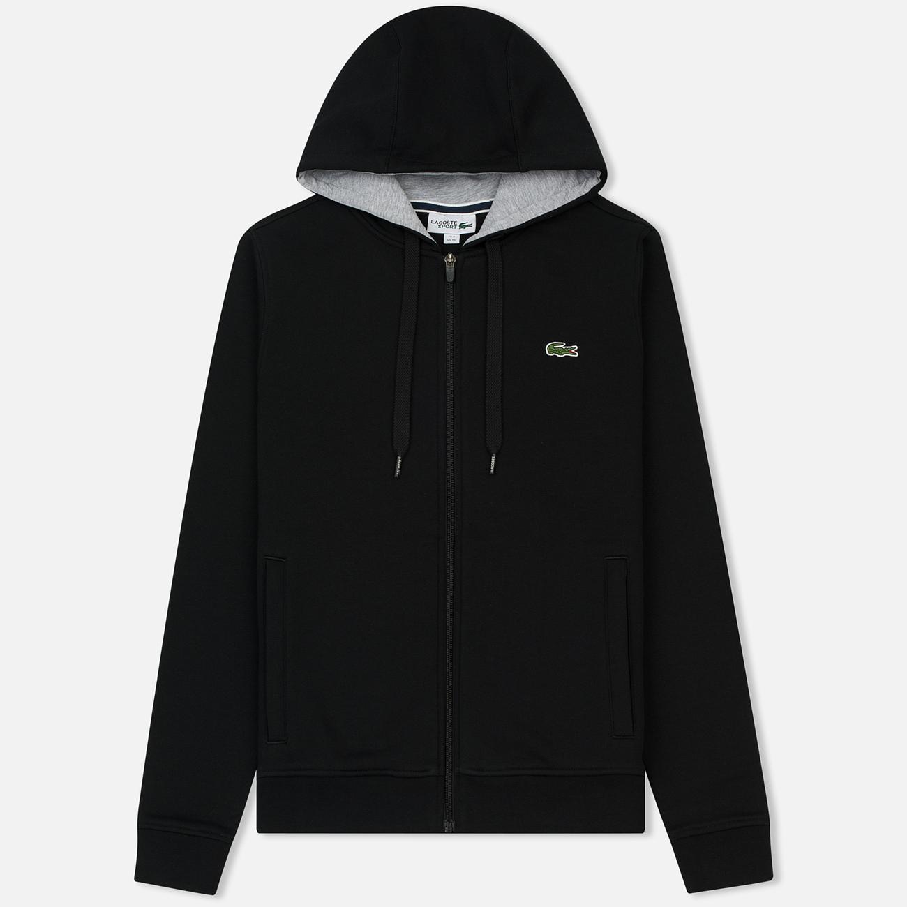 Мужская толстовка Lacoste Sport Tennis Hooded Zippered Black/Silver Chine