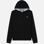 Мужская толстовка Lacoste Sport Tennis Hooded Zippered Black/Silver Chine фото- 0