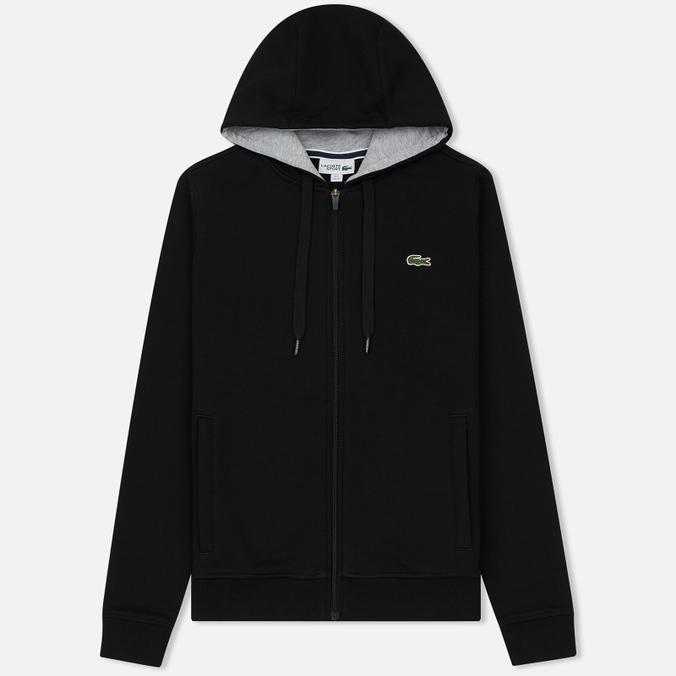 Мужская толстовка Lacoste Sport Tennis Hooded Zippered Black/Silver Chine