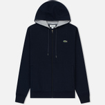 Мужская толстовка Lacoste Sport Tennis Hooded Zippered Navy Blue/Silver Chine фото- 0