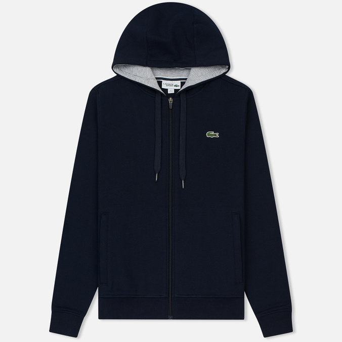 Мужская толстовка Lacoste Sport Tennis Hooded Zippered Navy Blue/Silver Chine