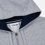 Мужская толстовка Lacoste Sport Tennis Hooded Zippered Silver/Navy Blue фото- 1