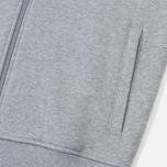Мужская толстовка Lacoste Sport Tennis Hooded Zippered Silver/Navy Blue фото- 4