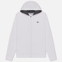Мужская толстовка Lacoste Sport Tennis Hooded Zippered White/Grey Chine фото- 0