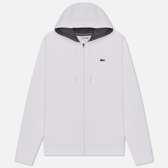 Мужская толстовка Lacoste Sport Tennis Hooded Zippered White/Grey Chine