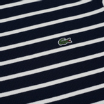 Мужская толстовка Lacoste Stripe Fleece Crew Sweat Navy/White фото- 2