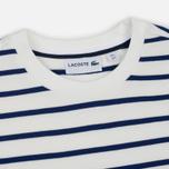 Мужская толстовка Lacoste Stripe Fleece Crew Sweat White/Blue фото- 1
