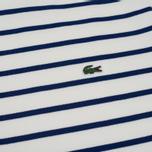 Мужская толстовка Lacoste Stripe Fleece Crew Sweat White/Blue фото- 2
