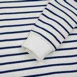 Мужская толстовка Lacoste Stripe Fleece Crew Sweat White/Blue фото- 3