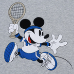 Мужская толстовка Lacoste x Disney Mickey Mouse Embroidered Fleece Hoodie Silver Chine фото- 2