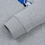 Мужская толстовка Lacoste x Disney Mickey Mouse Embroidered Fleece Hoodie Silver Chine фото- 3