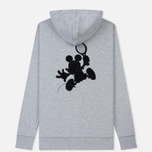 Мужская толстовка Lacoste x Disney Mickey Mouse Embroidered Fleece Hoodie Silver Chine фото- 5