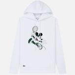 Мужская толстовка Lacoste x Disney Mickey Mouse Embroidered Fleece Hoodie White фото- 0