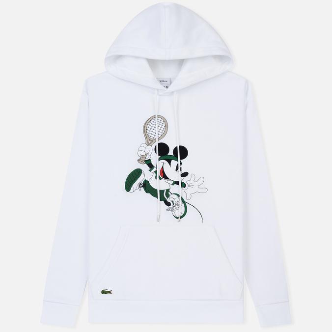 Мужская толстовка Lacoste x Disney Mickey Mouse Embroidered Fleece Hoodie White