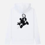 Мужская толстовка Lacoste x Disney Mickey Mouse Embroidered Fleece Hoodie White фото- 5