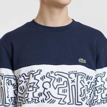 Мужская толстовка Lacoste x Keith Haring Print Crew Neck Colourblock Bordeaux/White/Navy Blue фото- 2