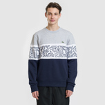 Мужская толстовка Lacoste x Keith Haring Print Crew Neck Colourblock Navy Blue/White/Grey Chine фото- 1