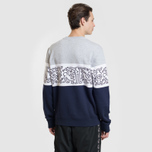 Мужская толстовка Lacoste x Keith Haring Print Crew Neck Colourblock Navy Blue/White/Grey Chine фото- 3