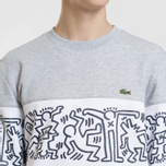 Мужская толстовка Lacoste x Keith Haring Print Crew Neck Colourblock Navy Blue/White/Grey Chine фото- 2