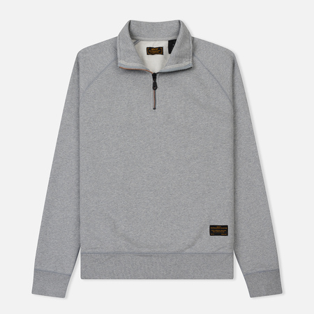 Мужская толстовка Levi's Skateboarding Skate Quarter Zip Rollerskate Grey Heather