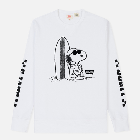 Мужская толстовка Levi's x Peanuts Graphic Crew Neck Housemark White