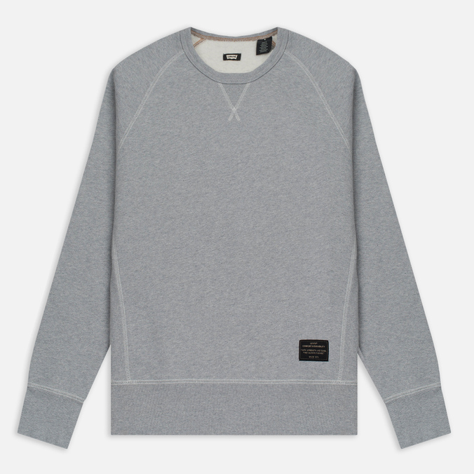 Мужская толстовка Levi's Skateboarding Crewneck Fleece Rollerskate Grey Heather