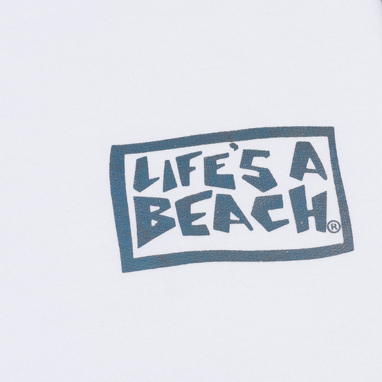 Мужская толстовка Life's a Beach Petro Drop Crew White