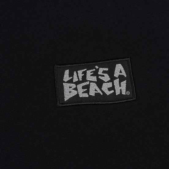 Мужская толстовка Life's a Beach Reflective Box Logo Crew Black