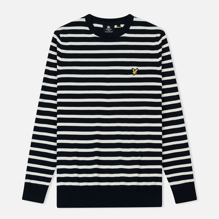 Мужская толстовка Lyle & Scott Breton Stripe Dark Navy