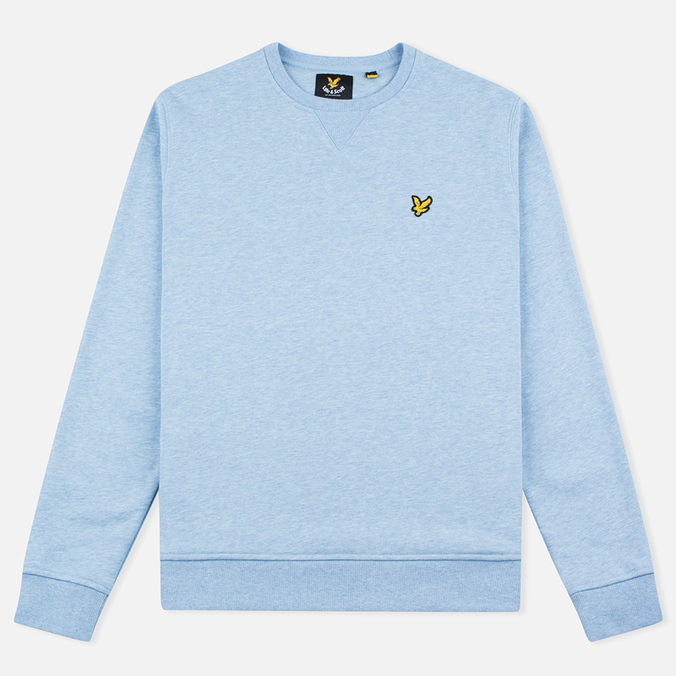 Lyle & Scott Crew Neck Loopback Men`s Sweatshirt Blue Marl