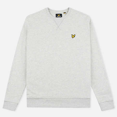 Мужская толстовка Lyle & Scott Crew Neck Loopback Light Grey Marl