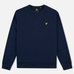 Мужская толстовка Lyle & Scott Crew Neck Loopback Navy фото- 0