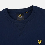 Мужская толстовка Lyle & Scott Crew Neck Loopback Navy фото- 1