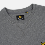 Мужская толстовка Lyle & Scott Crew Neck Mid Grey Marl фото- 1