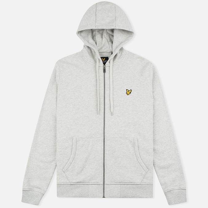 Мужская толстовка Lyle & Scott Zip Through Hoodie Light Grey Marl