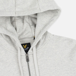 Мужская толстовка Lyle & Scott Zip Through Hoodie Light Grey Marl фото- 1