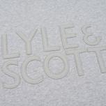 Мужская толстовка Lyle & Scott Graphic Crew Neck Light Grey Marl фото- 2