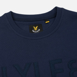 Мужская толстовка Lyle & Scott Graphic Crew Neck Navy фото- 1