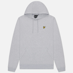 Мужская толстовка Lyle & Scott Hoodie Light Grey Marl