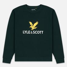 Мужская толстовка Lyle & Scott Logo Jade Green фото- 0