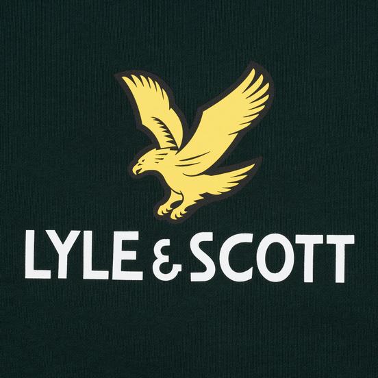 Мужская толстовка Lyle & Scott Logo Jade Green