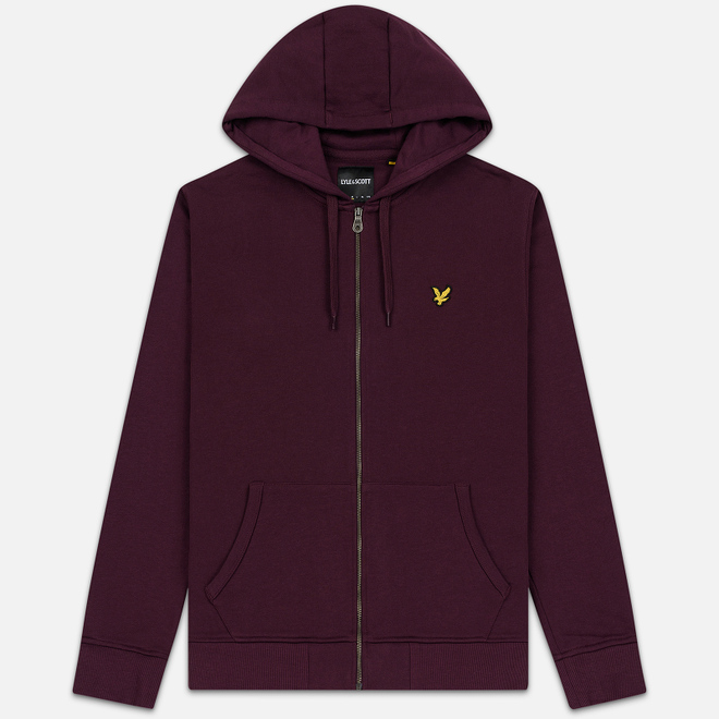 Мужская толстовка Lyle & Scott Zip Through Hoodie Burgundy