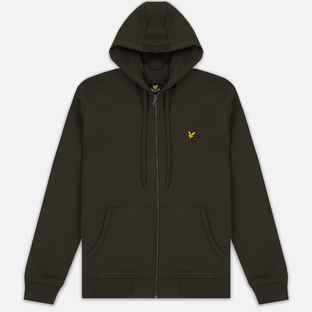 Мужская толстовка Lyle & Scott Zip Through Hoodie Dark Sage