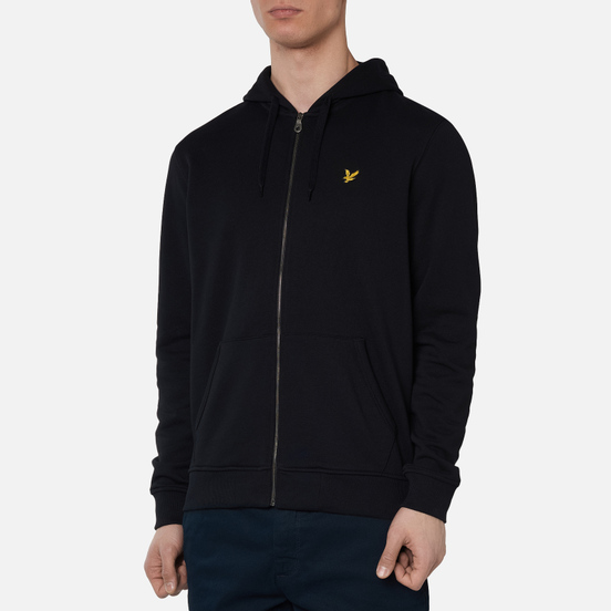 Мужская толстовка Lyle & Scott Zip Through Hoodie Jet Black