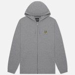 Мужская толстовка Lyle & Scott Zip Through Hoodie Mid Grey Marl фото- 0