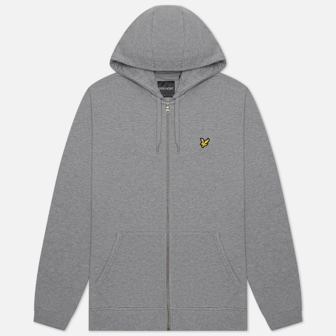 Мужская толстовка Lyle & Scott Zip Through Hoodie Mid Grey Marl