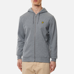 Мужская толстовка Lyle & Scott Zip Through Hoodie Mid Grey Marl фото- 3